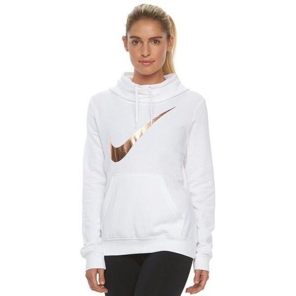 Nike Tops White Rose Gold Hoodie Poshmark